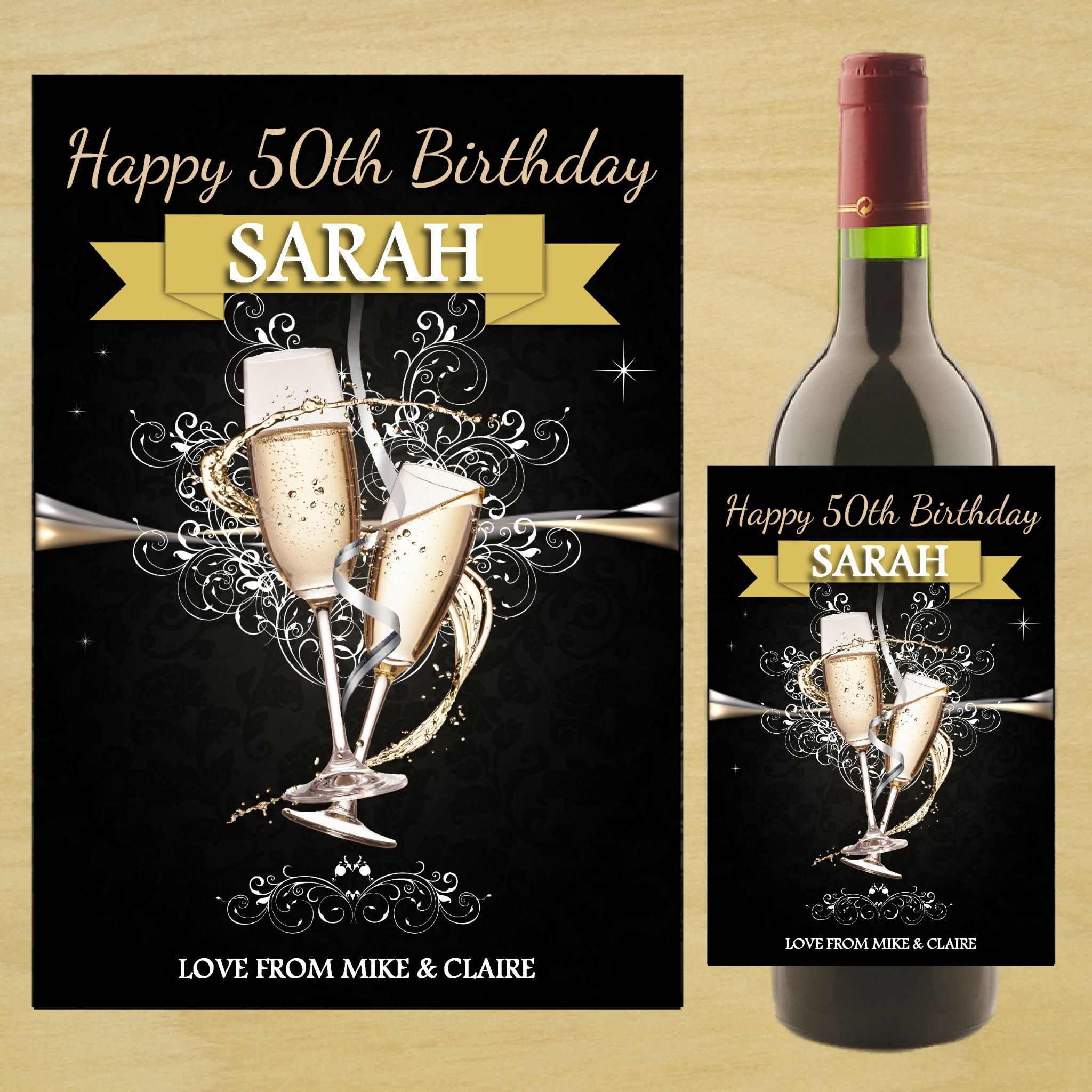personalised bottle labels birthdays ; personalised-happy-18th-21st-30th-40th-birthday-wine-champagne-bottle-photo-label-n83-any-age-14507-p