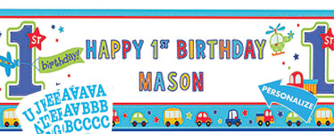 personalised photo birthday banners ; 1