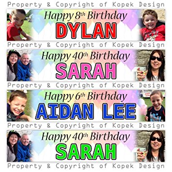 personalised photo birthday banners ; 91k521NOn%252BL