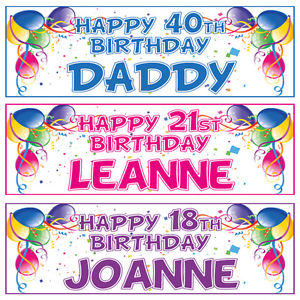 personalised photo birthday banners ; s-l300