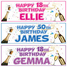 personalised photo birthday banners uk ; s-l225