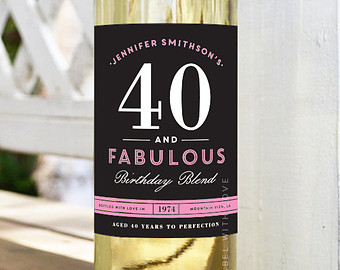 personalised wine labels for birthday ; 7bded750d43ccd30a57e83fe00127b93
