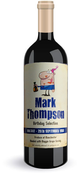 personalised wine labels for birthday ; Funny-Bottle