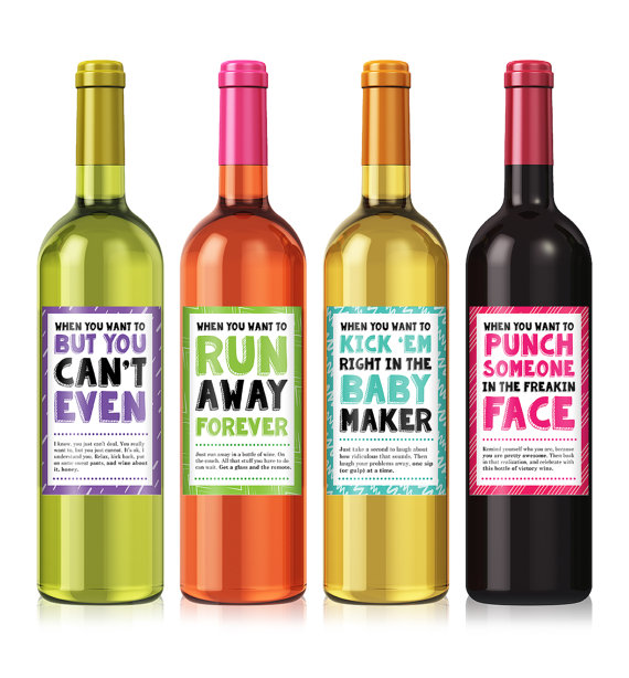 personalised wine labels for birthday ; il_570xN