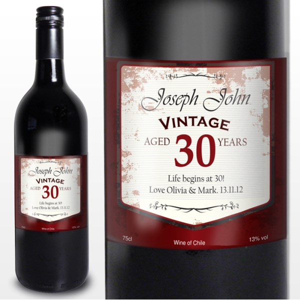 personalised wine labels for birthday ; red-wine-vintage-age-labe_1