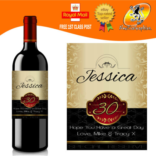 personalised wine labels for birthday ; s-l500