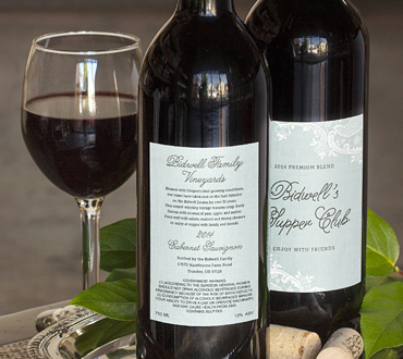 personalised wine labels for birthday ; wine-labels