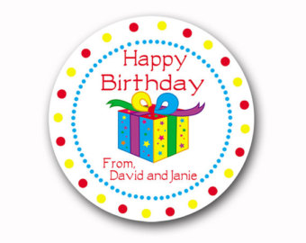 personalized birthday gift labels ; il_340x270