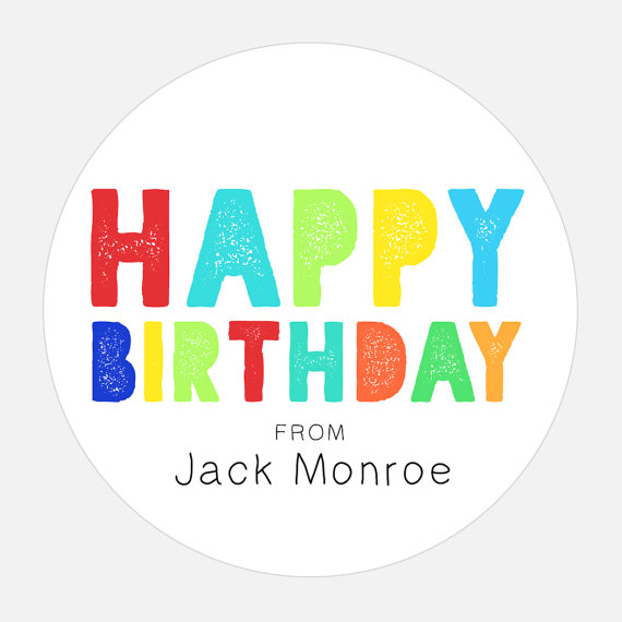 personalized birthday gift labels ; il_570xN