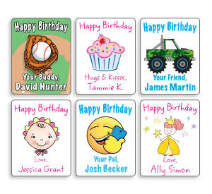 personalized birthday gift labels ; personalized-mini-gift-labels