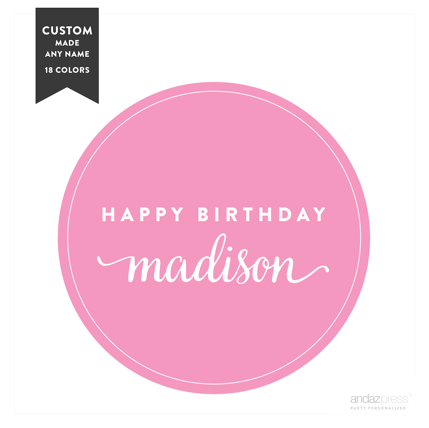 personalized birthday labels ; apc59518-andaz-press-personalized-circle-labels-birthday-happy-birthday-name