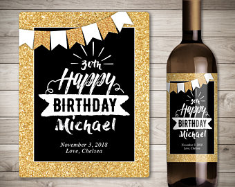 personalized bottle labels birthday ; il_340x270