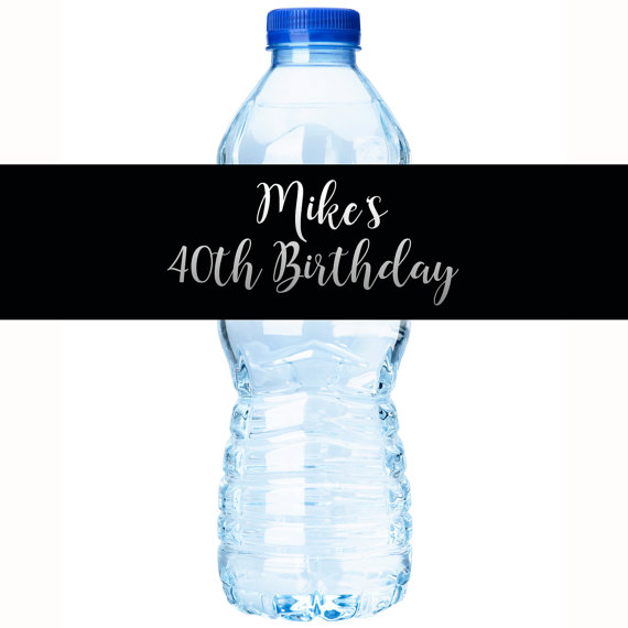 personalized bottle labels birthday ; il_570xN