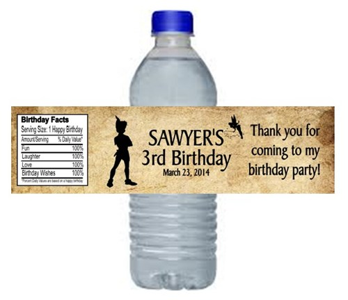 personalized bottle labels birthday ; peter_pan_water_bottle_labels_birthday_party_favors_personalized_05c59f30