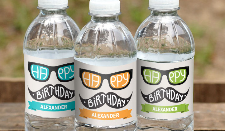 personalized bottle labels birthday ; water-bottle-labels-award-winning-quality-stickeryou-bottled-water-personalized-labels