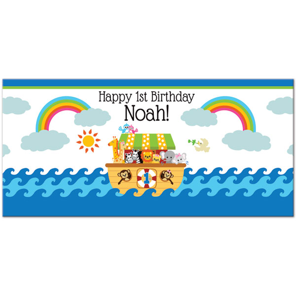 personalized happy birthday labels ; 1-dc-47024-noahs-ark-1st-personalized-bottle-labels-desc