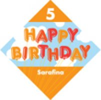 personalized happy birthday labels ; 70707-200H