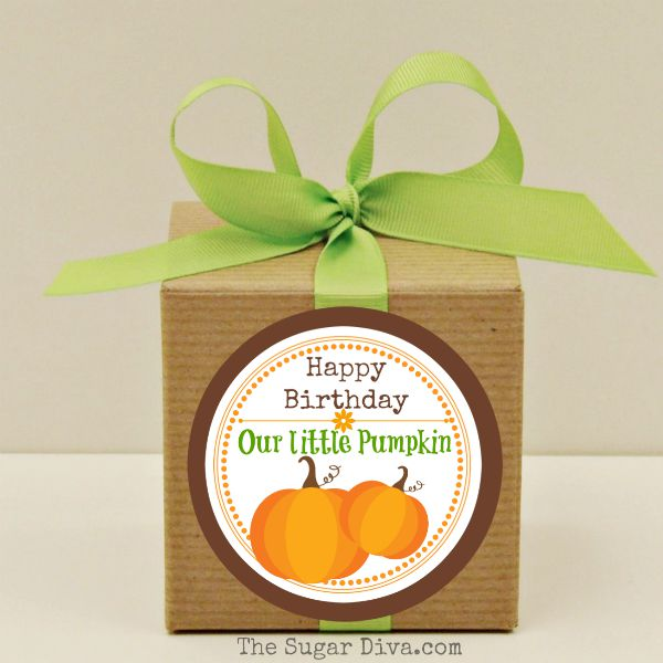 personalized labels for birthday favors ; FavorBoxPumpkinSDMED