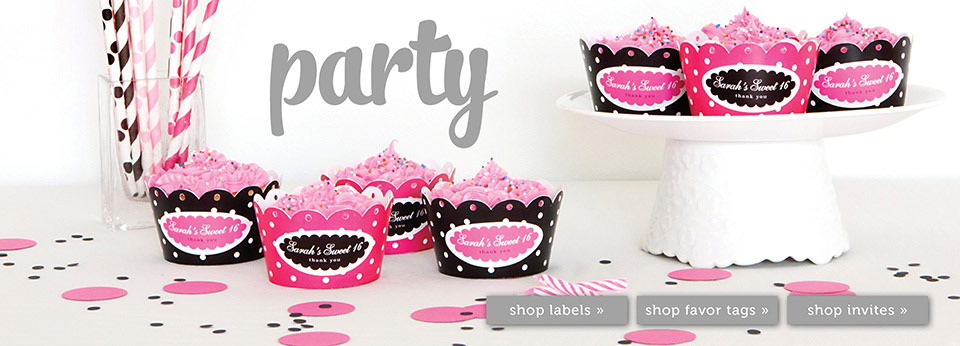 personalized labels for birthday favors ; party-feature-header