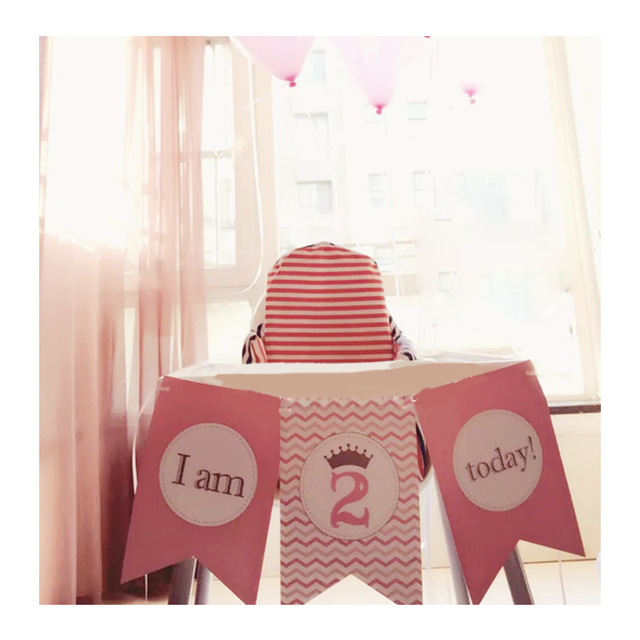personalized photo banner 1st birthday ; 1st-birthday-Pink-Girl-1st-First-Personalized-Birthday-Party-Decorations-High-Chair-Flag-Banner-Party-Decorationparty