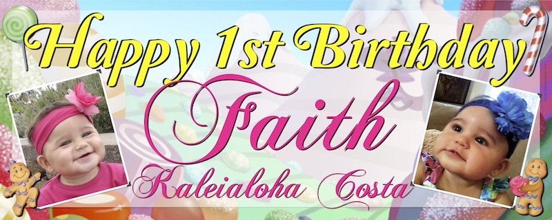 personalized photo banner 1st birthday ; banners-sweet-art-designs-creative-ideas-from-the-heart-happy-1st-birthday-banner-personalized