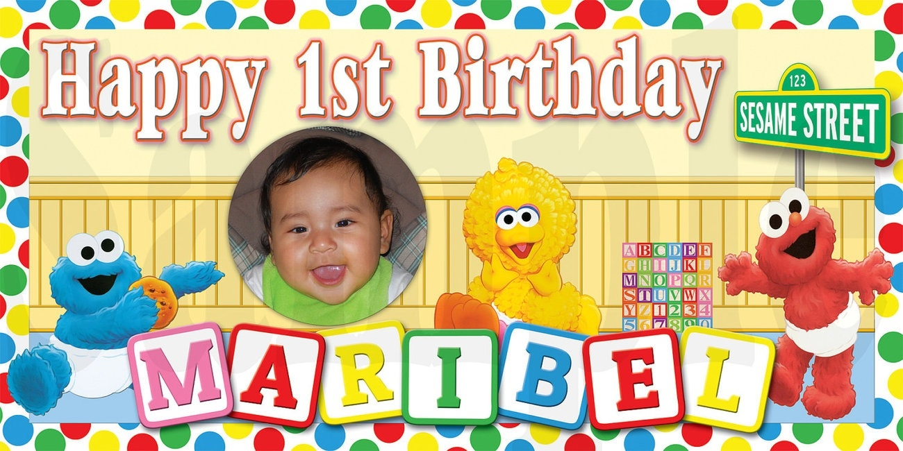 personalized photo banner 1st birthday ; elmo-and-friends-1st-birthday-personalized-and-19-similar-items-with-regard-to-custom-birthday-banner