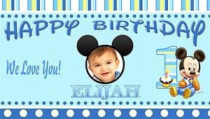 personalized photo banner 1st birthday ; s-l300