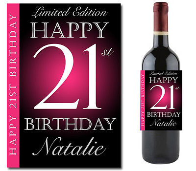 personalized wine bottle labels for birthday ; 9409440