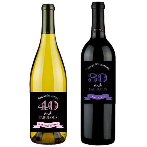 personalized wine bottle labels for birthday ; Fabulous-Birthday-Personalized-wine-labels-details
