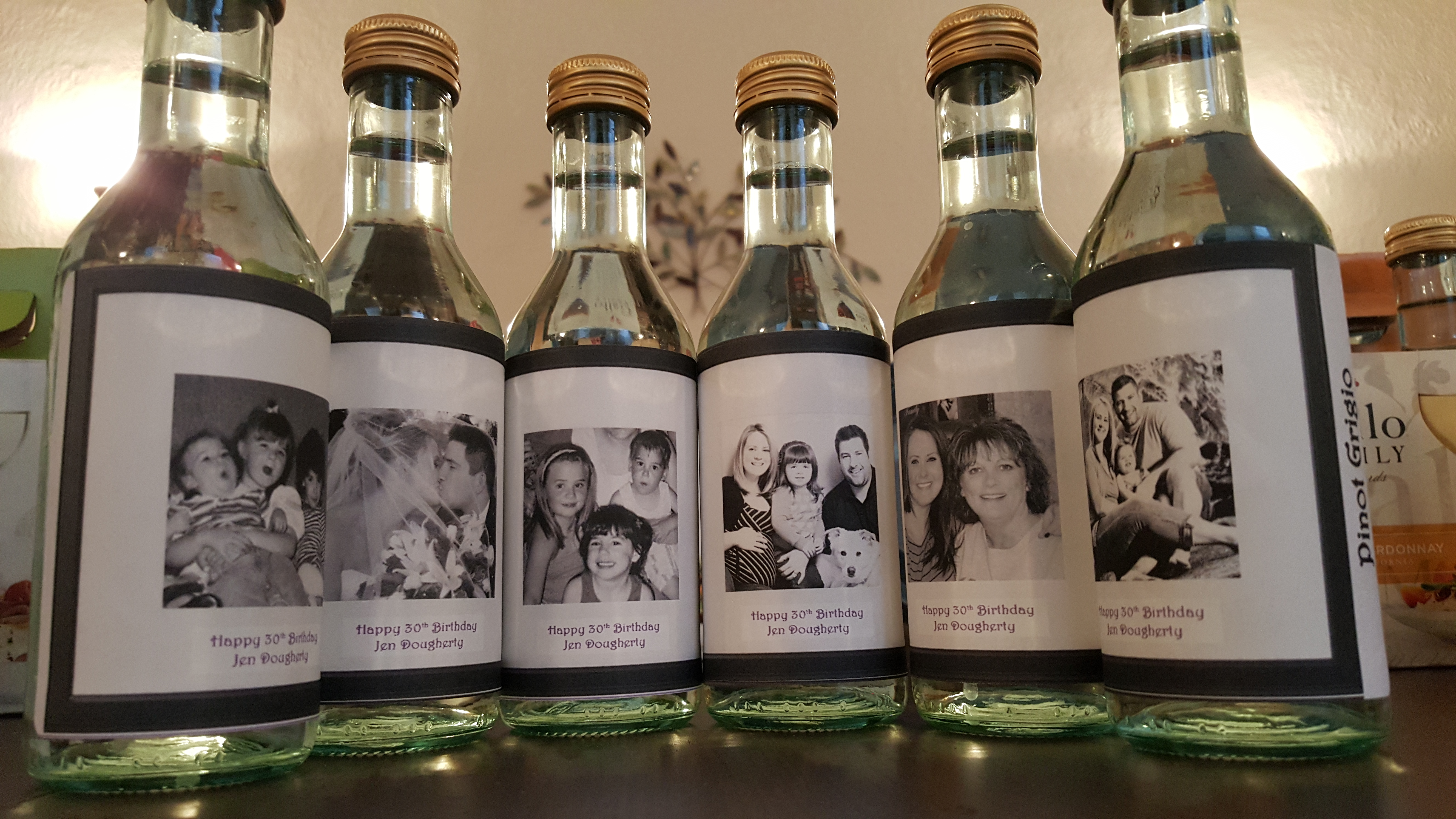 personalized wine bottle labels for birthday ; de