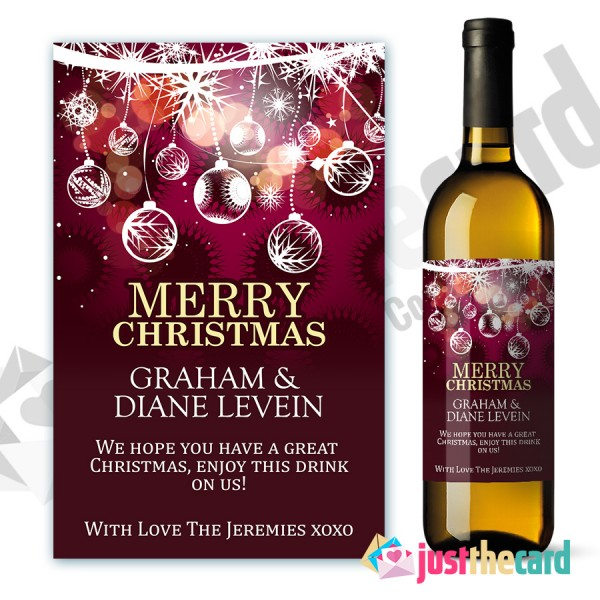 personalized wine bottle labels for birthday ; wl07-600x600