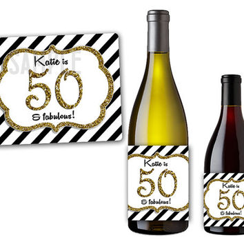 personalized wine bottle labels for birthday ; x354-q80