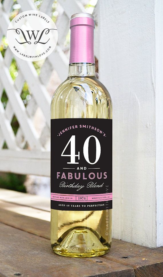 personalized wine labels 40th birthday ; 3cbc7945a3be13eadc0a3523cfa21d9f--custom-wine-labels-wine-bottle-labels