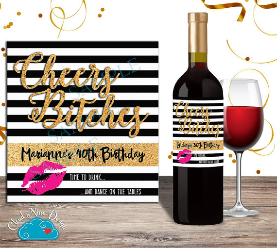 personalized wine labels 40th birthday ; 8a1bb324a9457d85c2d4aa5543204033