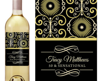 personalized wine labels 40th birthday ; il_340x270