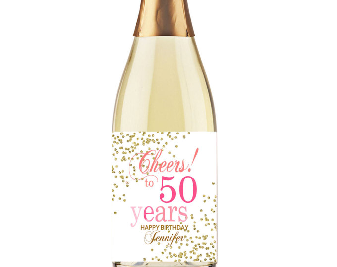 personalized wine labels for 50th birthday ; 3f41f7b66f029589b8338a97176e8084
