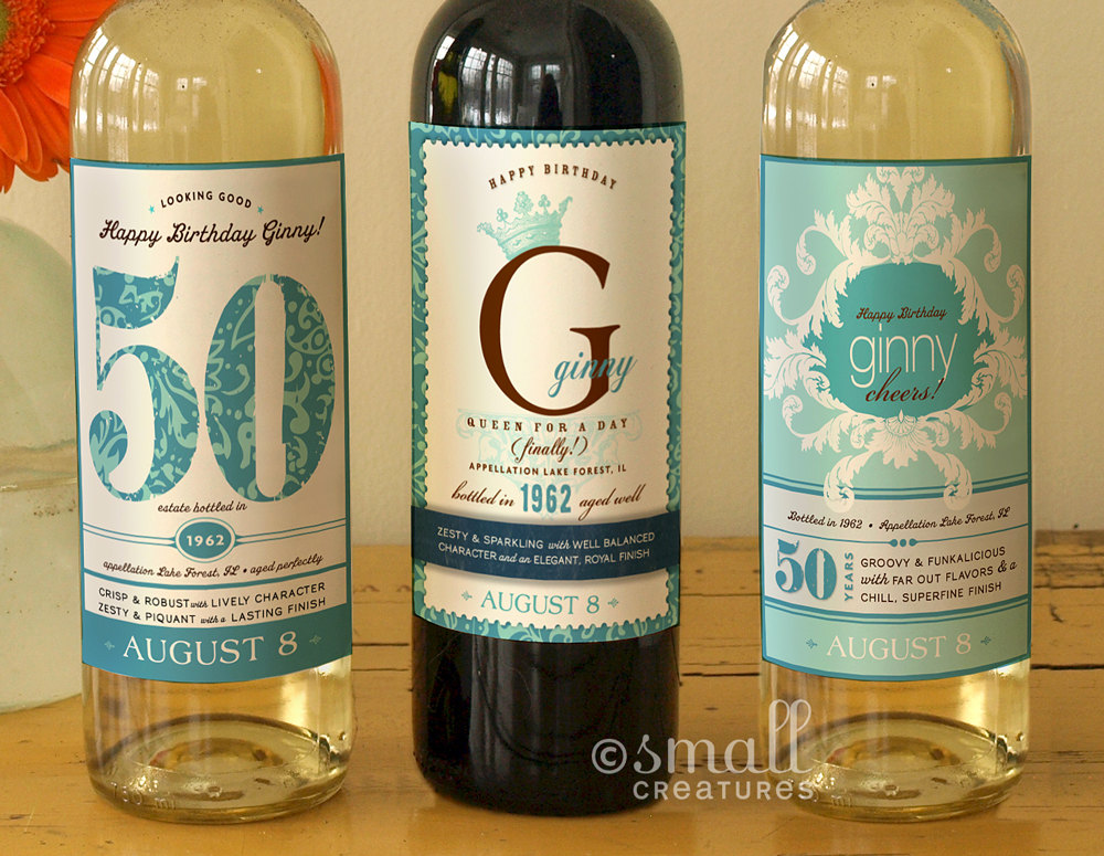 personalized wine labels for 50th birthday ; ecbc0eb7012b78bcfd2ccda2ee9a6d84