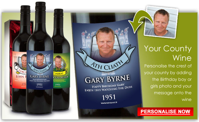 personalized wine labels for 50th birthday ; gaa-birthday-gifts-wine-personalised