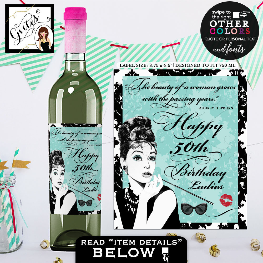 personalized wine labels for 50th birthday ; il_fullxfull