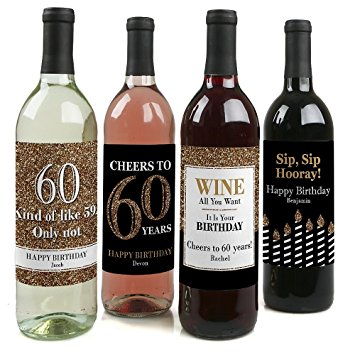 personalized wine labels for birthday ; 71lNk7wN3tL