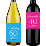 personalized wine labels for birthday ; Birthday-Milestone-Personalized-Wine-Label-1