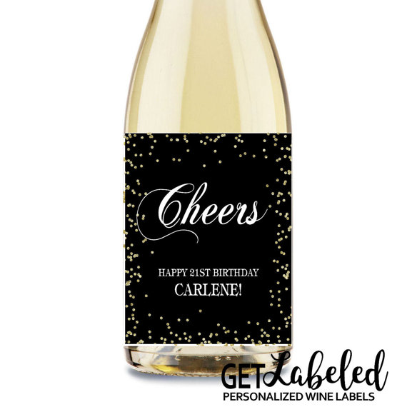 personalized wine labels for birthday ; il_570xN
