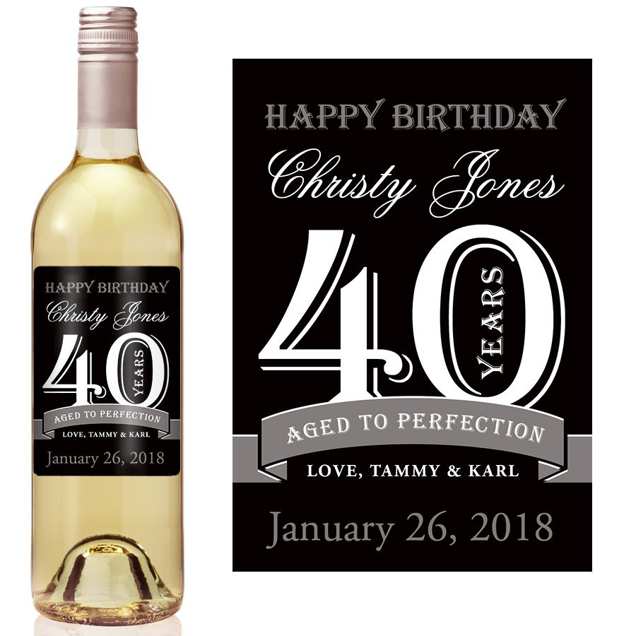 personalized wine labels for birthday ; il_fullxfull