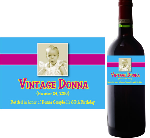 personalized wine labels for birthday ; label-wine-birthday10a