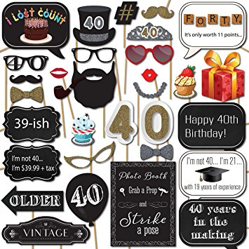 photo booth props signs birthday ; A16FEAljDzL