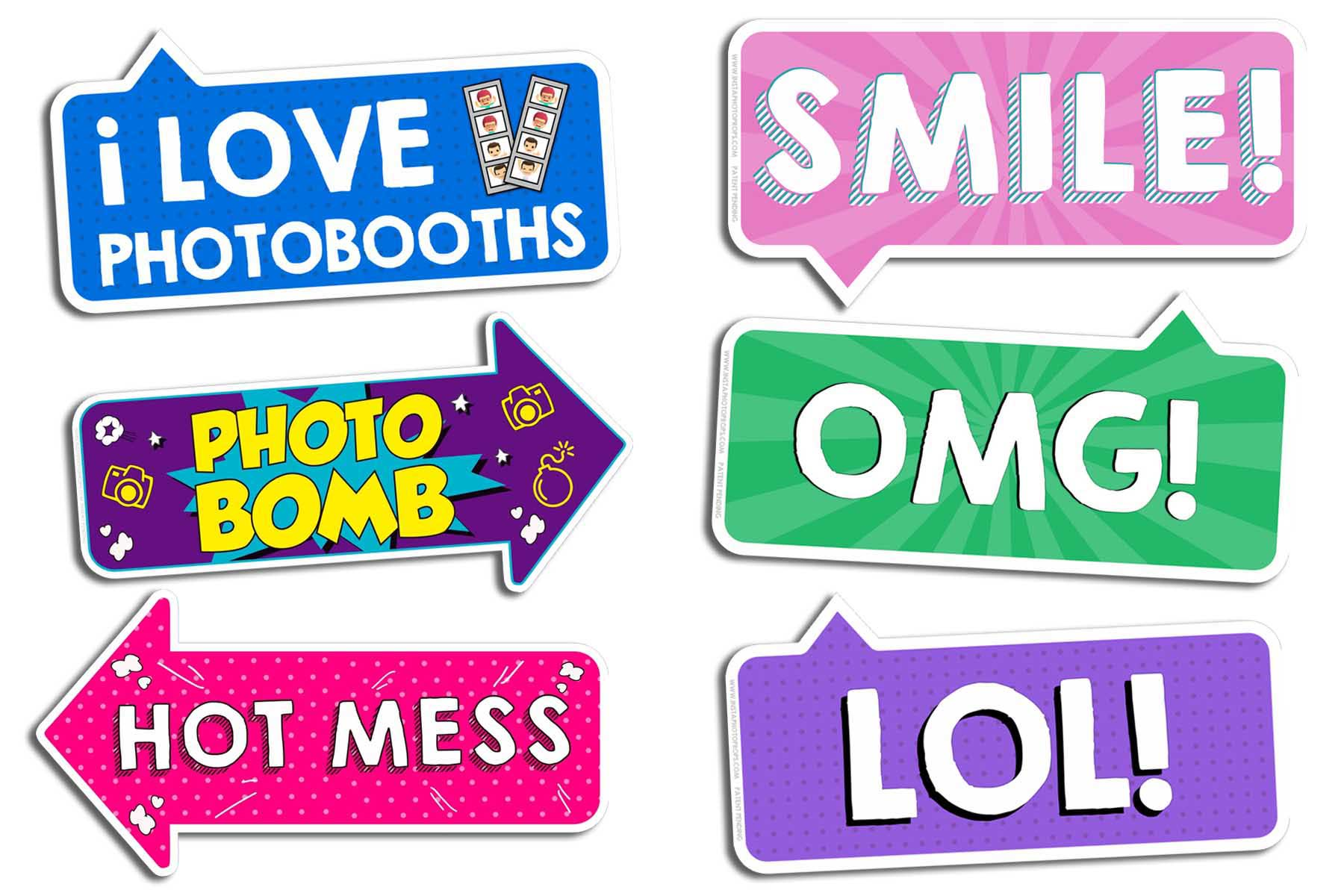 photo booth props signs birthday ; Photo-Booth-Prop-Signs