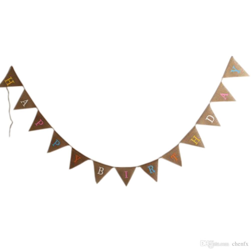 photo booth props signs birthday ; happy-birthday-vintage-wedding-bunting-banner