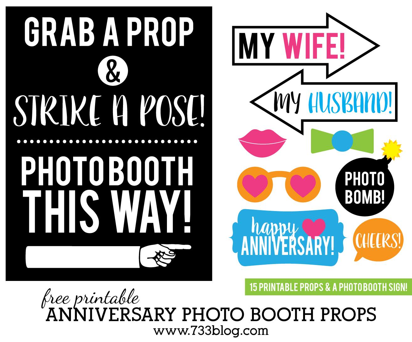 photo booth props signs free downloads birthday ; anniversary-photo-booth-props