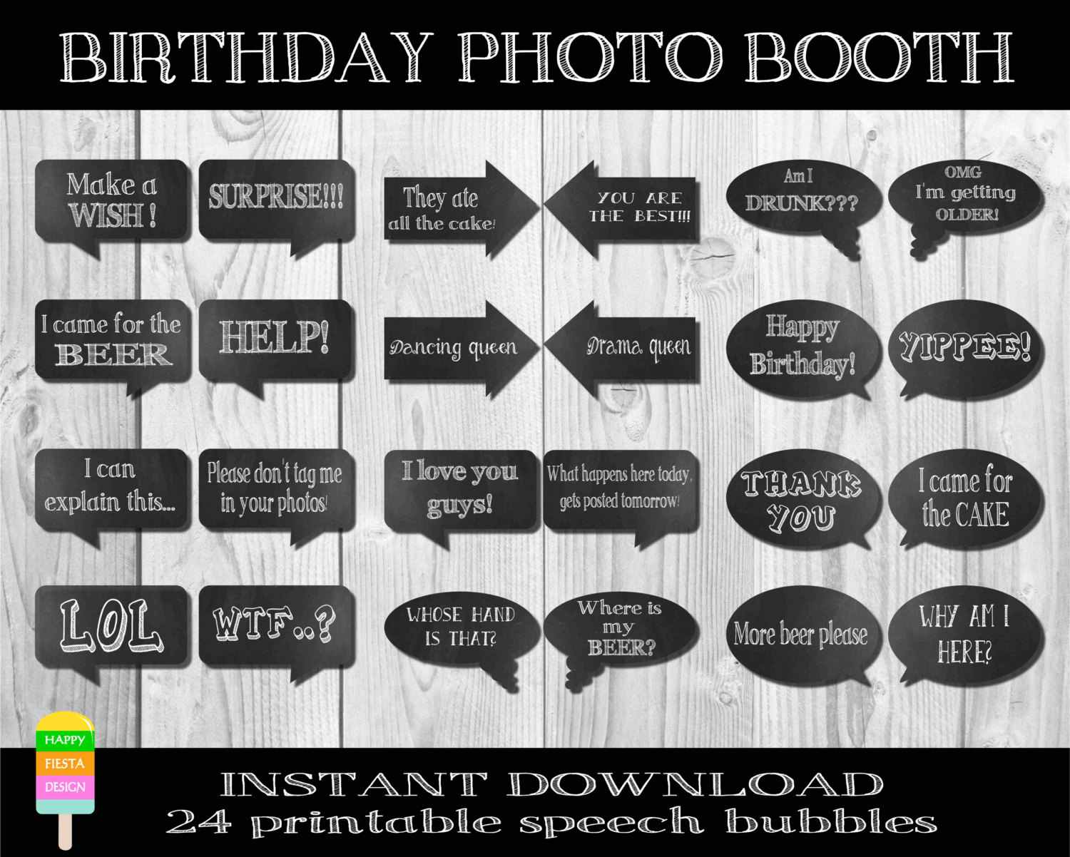 photo booth quotes for birthday ; b2e29058609412bd432509dcc7c61acd