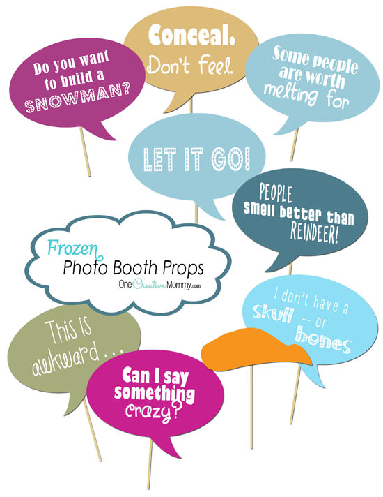photo booth quotes for birthday ; frozen-photo-booth-props-thumbnails